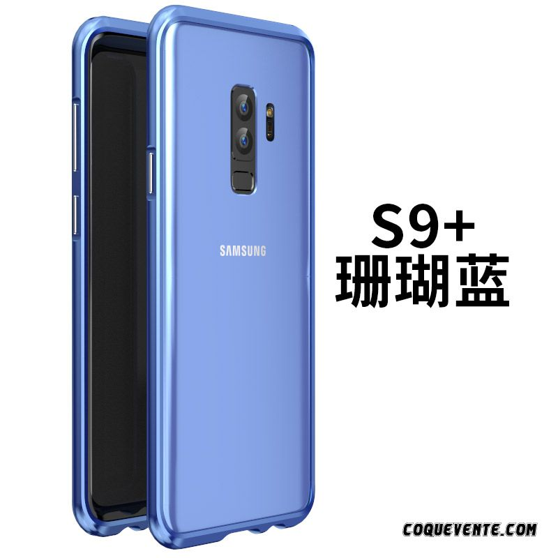 Coque Galaxy S9+, Etui De Protection Samsung Galaxy S9+, Etui Coque De Protection Cyan