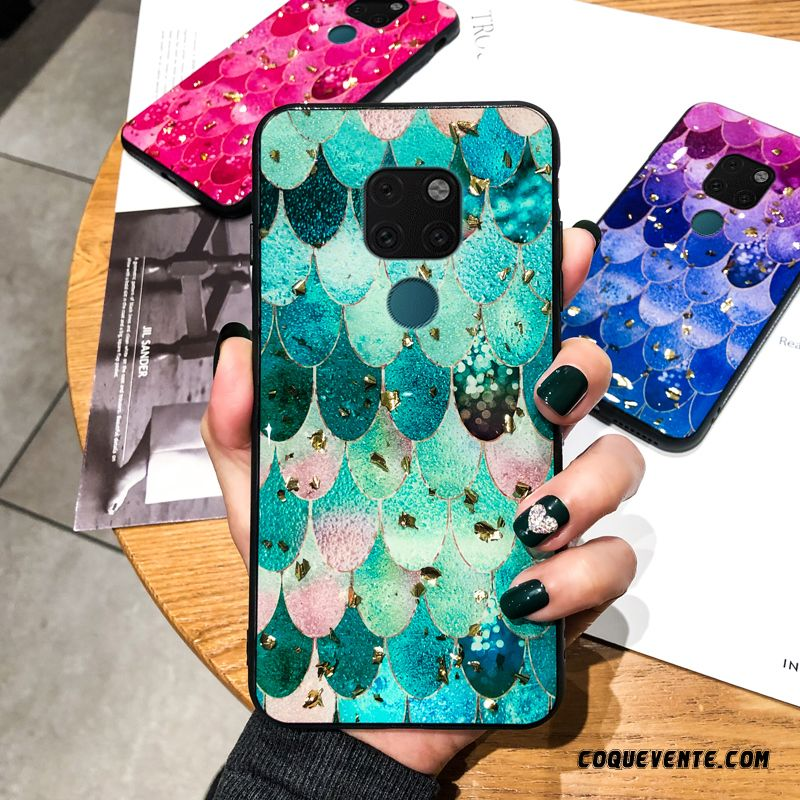 Coque Huawei Mate 20, Etui Silicone Huawei Mate 20, Housse Coque Mobile Sarcelle