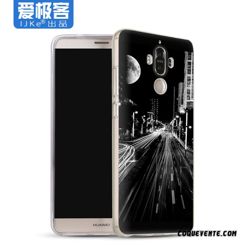 Coque Huawei Mate 9 Pro, Coque Téléphone Personnalisée Motor City, Etui Telephone Huawei Mate 9 Pro