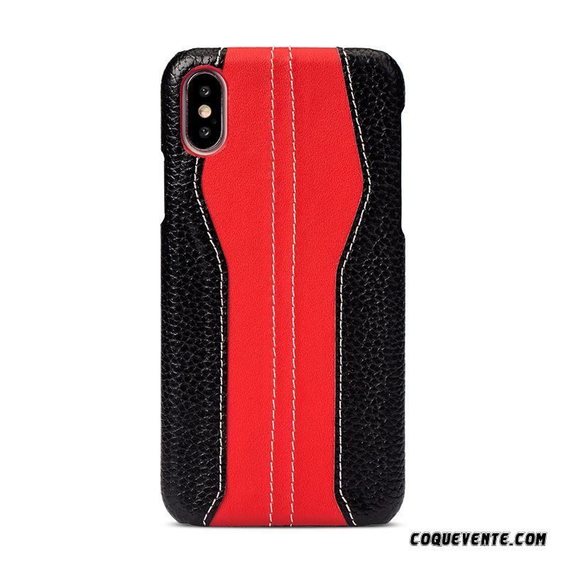 Coque Iphone Xs Cuir Luxe, Coque Iphone Xs, Coques De Portable Cyan