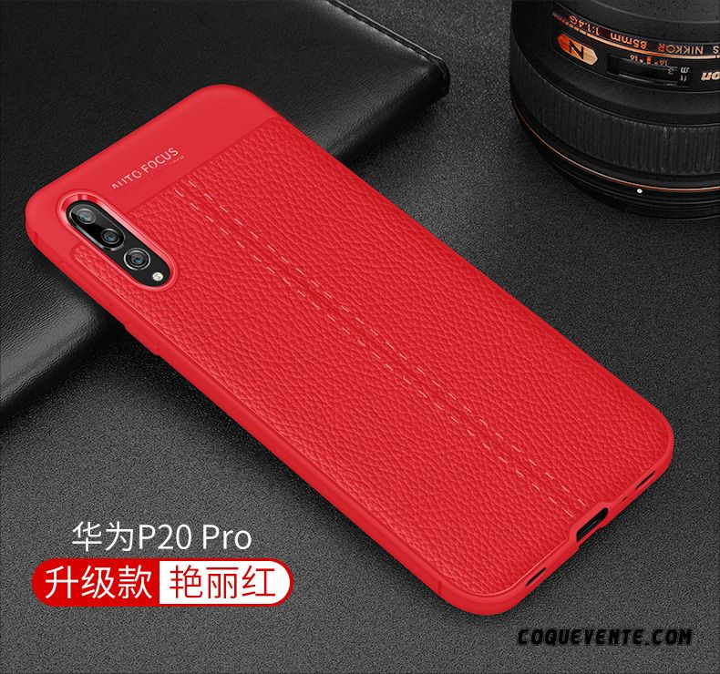 coque huawei p20 pro rouge