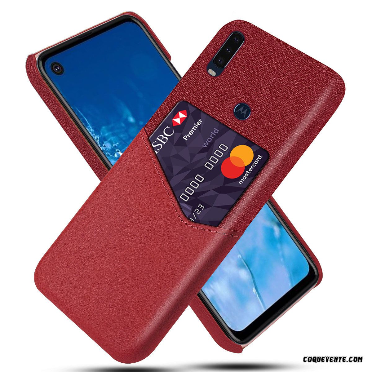 Coque Motorola One Action, Coque Motorola One Action Metal, Etui Tel Mobile Pas Cher Kaki