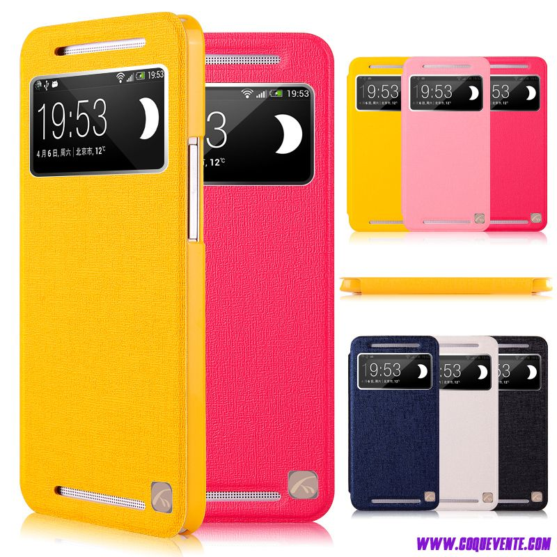 Coque Pour HTC One M7, coque cuir htc one m7, coque pour wiko bisque