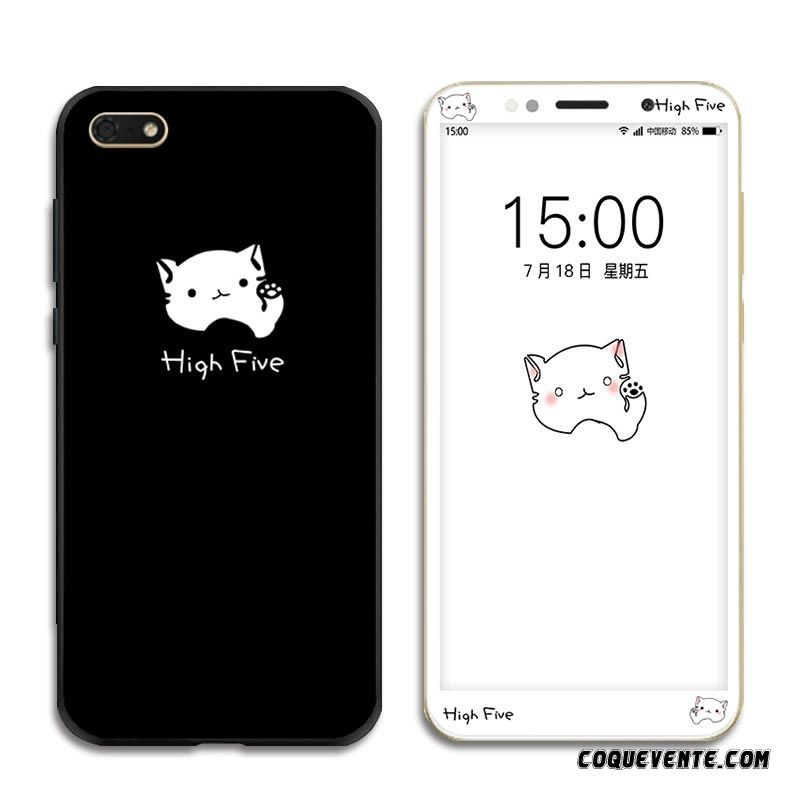 Coque Silicone Huawei Y5 2018, Etui Coques Telephone Personnalisée Argent, Coque Huawei Y5 2018 Pas Cher