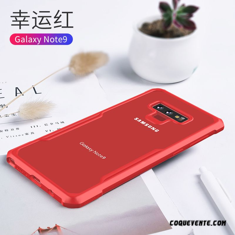 Etui Portable Samsung Galaxy Note 9, Coque Samsung Galaxy Note 9, Housse Coques Personnalisé Rouge