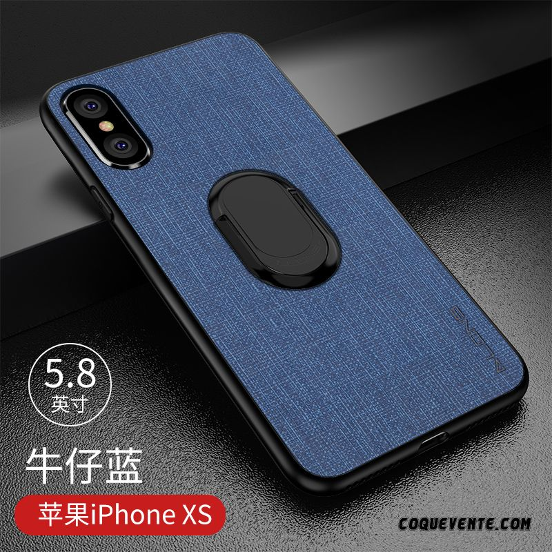 Etuis Cuir Iphone Xs, Coque Iphone Xs, Coque Animal Noir