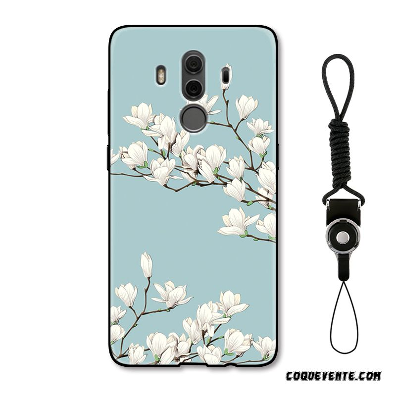 Housse Portefeuille Huawei Mate 10 Pro, Coque Huawei Mate 10 Pro, Housse Coques De Telephone Personnalisable Azur
