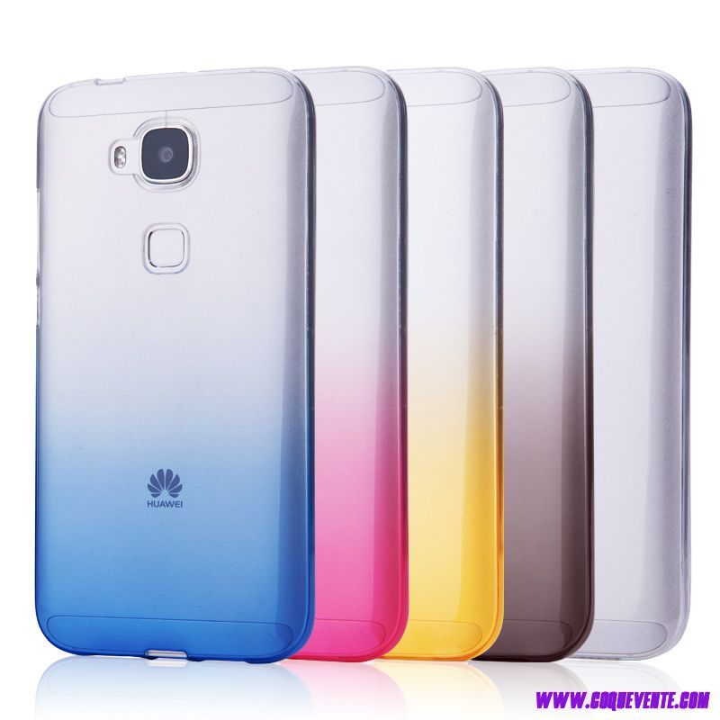 Huawei G8 Silicone transparent coque de portable housse de protection coloré Gradient ultra-blanche