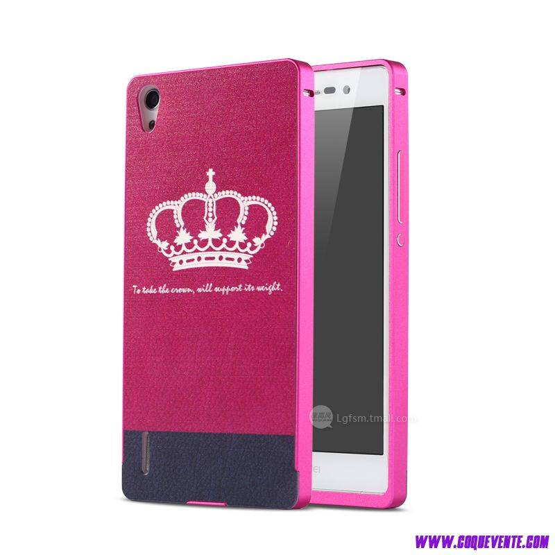 etui telephone huawei ascend p7, etui coque strass rose, Coque pour HUAWEI Ascend P7