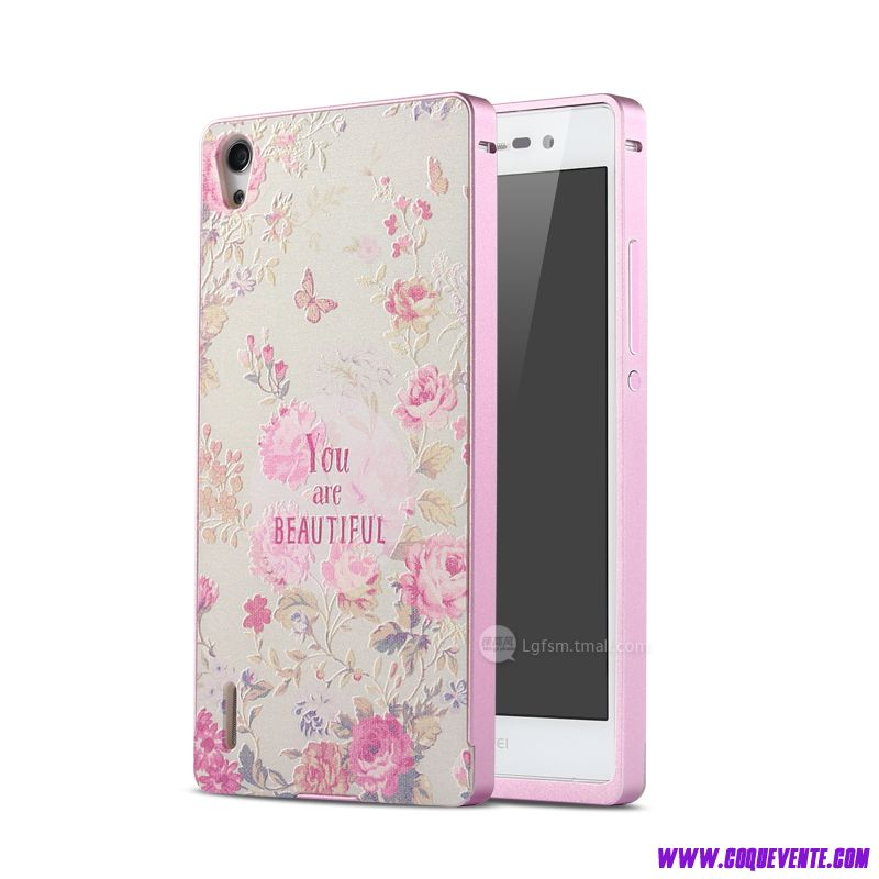 etui telephone huawei ascend p7 etui coque strass rose coque pour huawei ascend p7. Black Bedroom Furniture Sets. Home Design Ideas