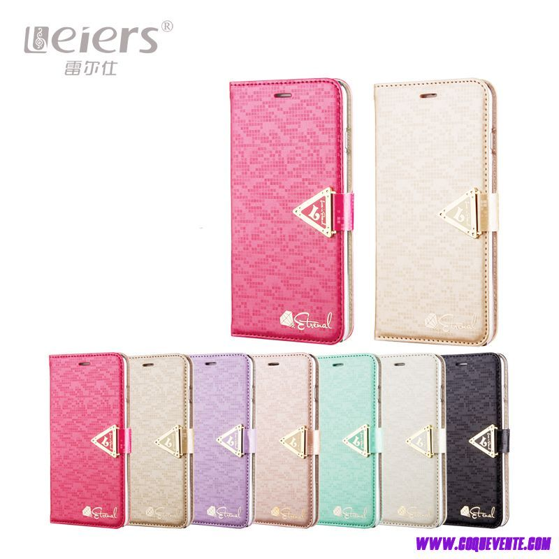 iPhone 6s coque en cuir de support flip Étui protecteur rose or