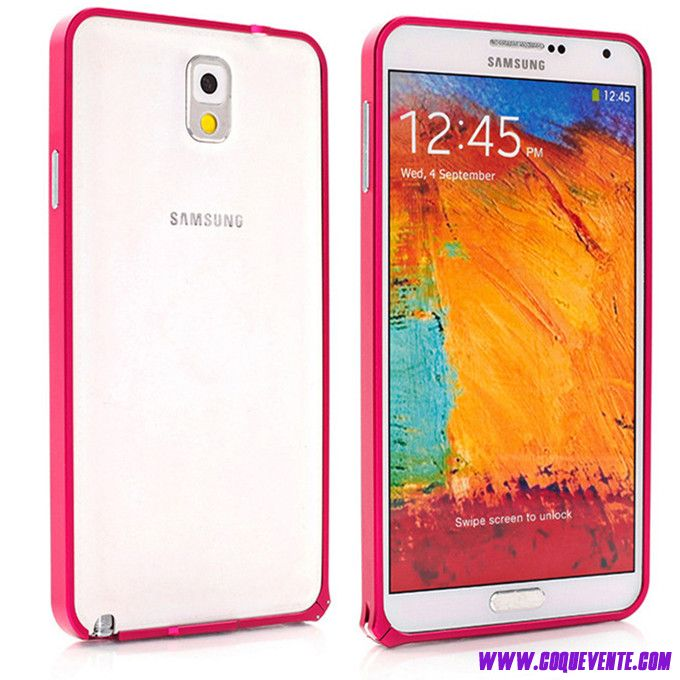 samsung galaxy note 3 rose, etui magasin coque bordeaux, Coque Pour Galaxy Note 3